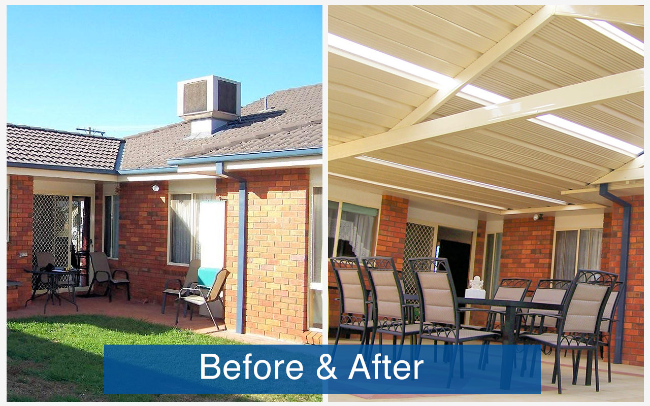 Apollo Patios Before & After - Clyne