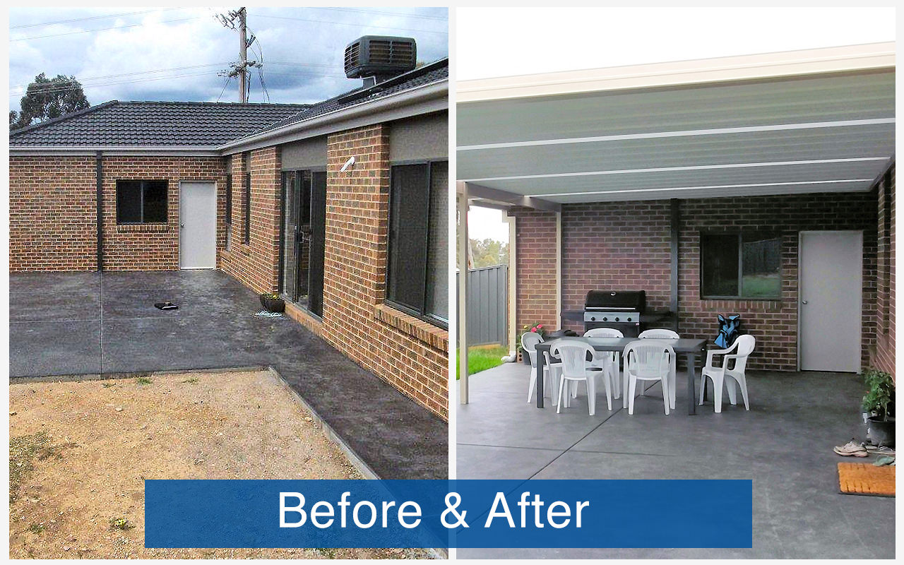 Apollo Patios Before & After - Coburn