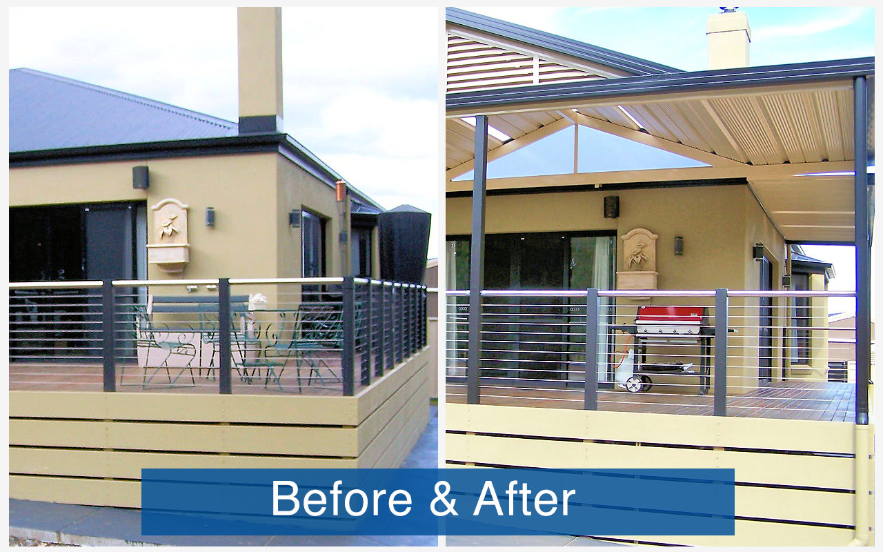Apollo Patios Before & After - Curnow