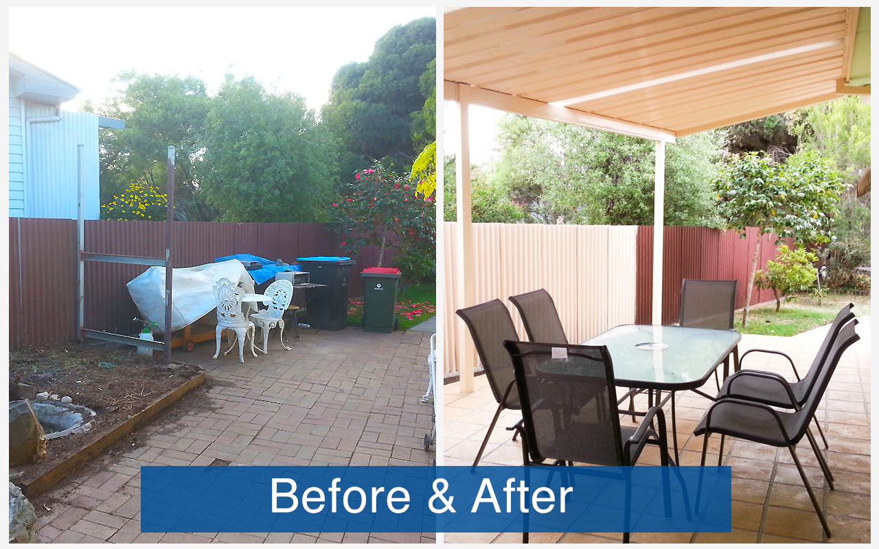 Apollo Patios Before & After - Hocking