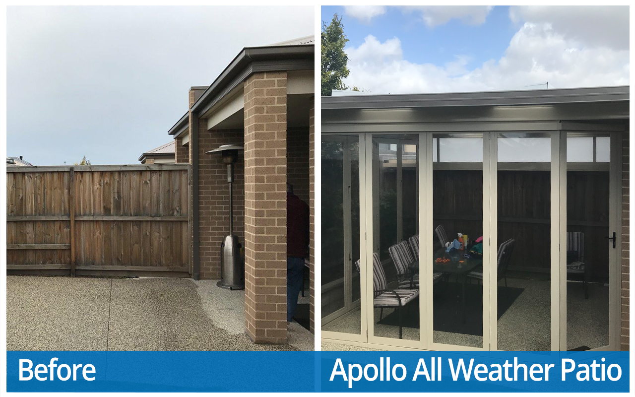 Mckeon Before and After Apollo All Weather Patio