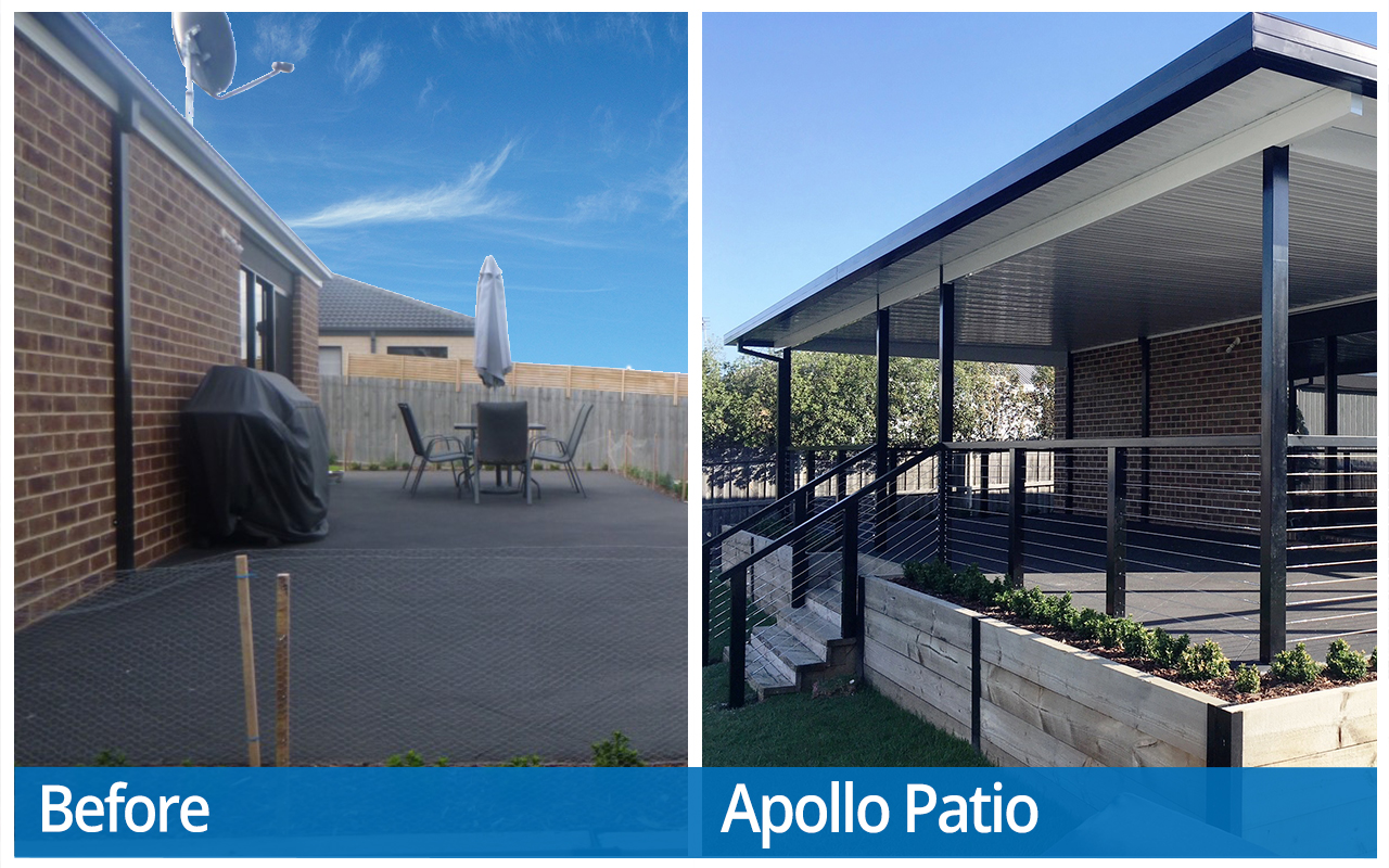 Oglesby Before and After Apollo Patios
