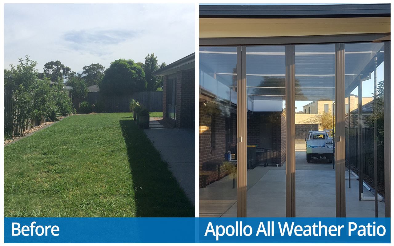 Takanen Before and After Apollo All Weather Patio