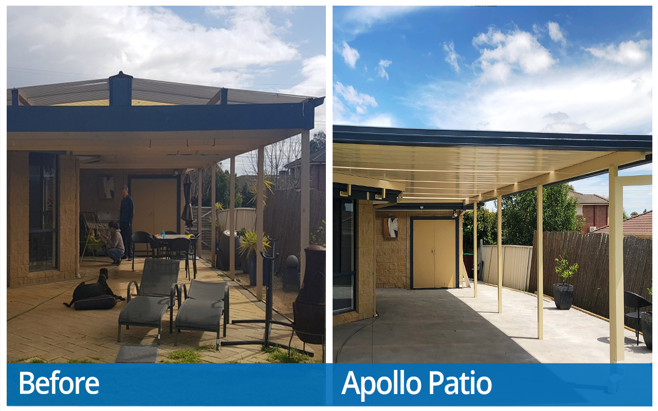 Timmins Before and After Apollo Patios