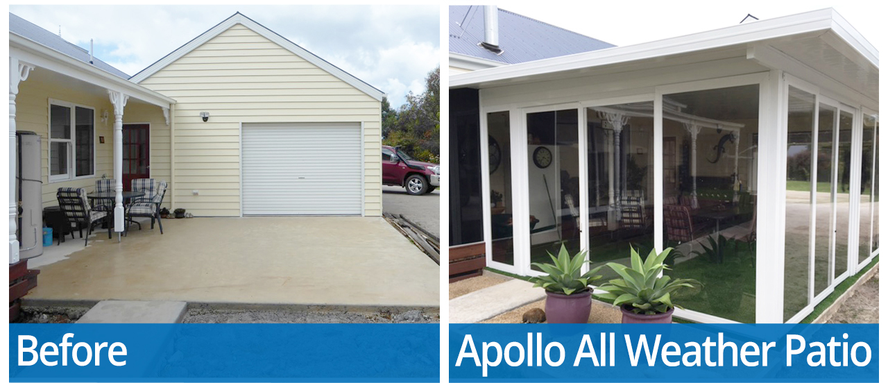 Before and After Apollo All Weather Patio