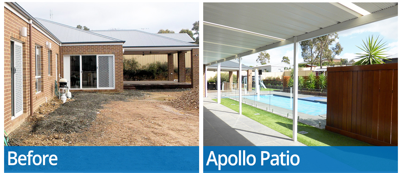Apollo Patios Vic Transformation Images