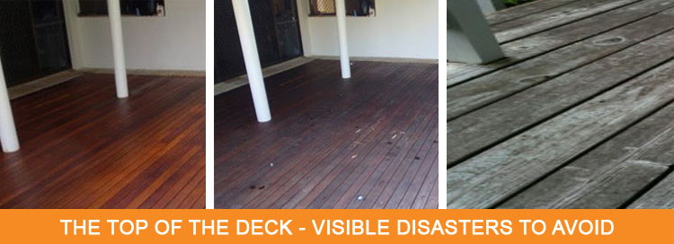 The Top of the Deck? Visible Disasters To Avoid