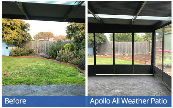 Apollo All Weather Patio System - Bennetts-W inside