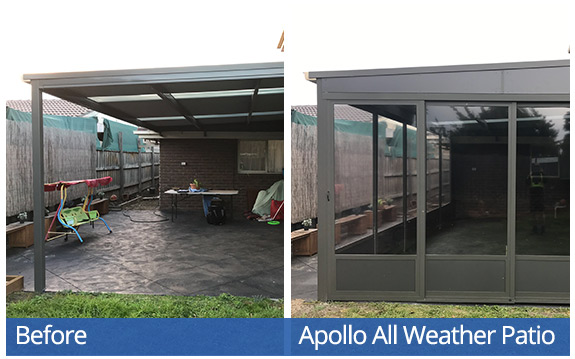 Apollo All Weather Patio System - Bennetts-W outside
