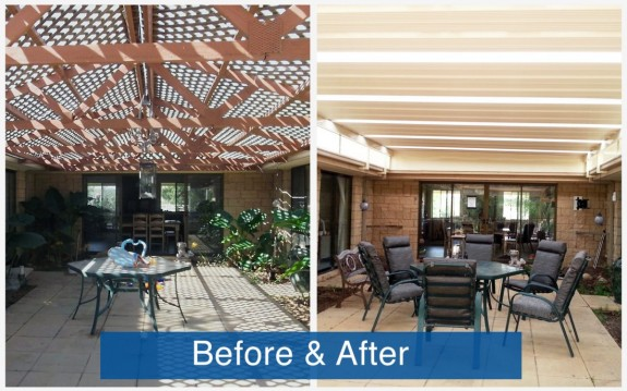 Apollo Patios Before & After - Brown